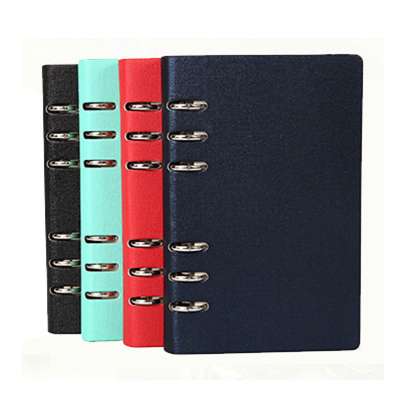 A5 A6 Leather Cover Spiral Notebook Ring Binder Index Dividers Card Filler Dot Diary Agenda Planner Accessories Bullet Journal