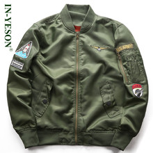 Men's Bomber Jacket Brand IN-YESON Military Jackets Men Fashion US Army Printed Air Force Men's Spring Jacket Coat Plus Size 6XL(China)