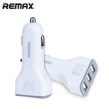 Newest Remax Brand Super Fast Charging USB Car Charger 3.6A 3-Ports For Smartphone For Samsung 5V/2.4A Best Price(China)