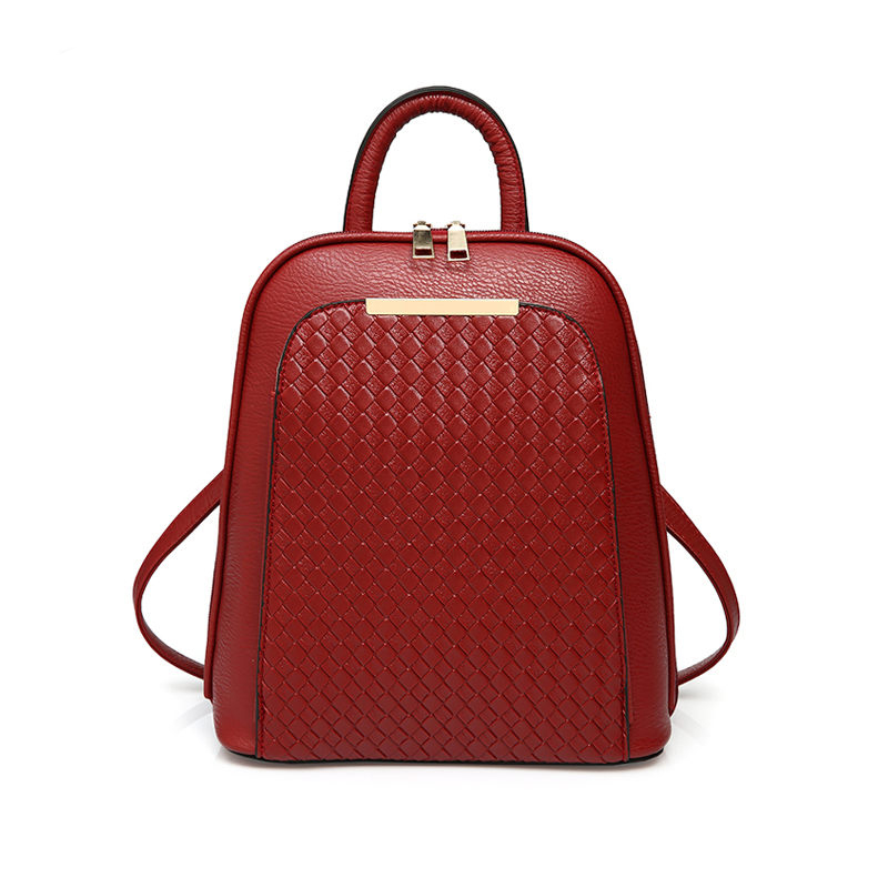 New 2017 Women Fashion PU Leather Backpack Korean School Bags For Teenage Girls Casual Black Red Blue Backpack mochila feminina<br><br>Aliexpress