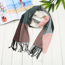 Helisopus 11 Colors Winter Fashion Plaid Cashmere Scarf Oversized Blanket Long Wool Scarf Warm Winter Pashmina Scarves Shawl