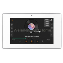 "5""touch screen Multi-room audio visual System,New Room AUX in/USB/TF music player,In wall audio digital stereo WIFI amplifier"