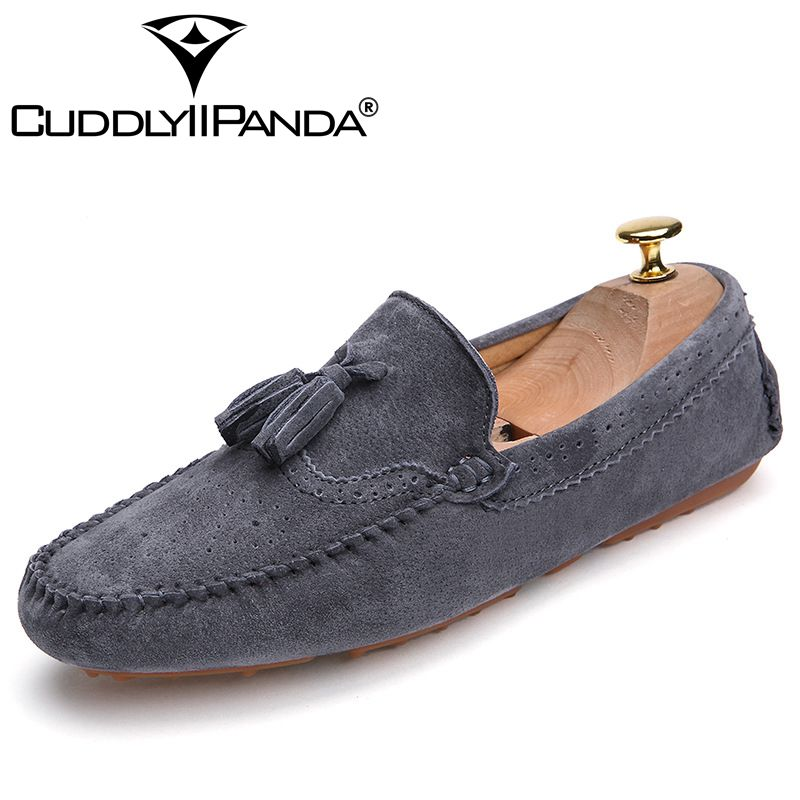 2017 New Arrival  Men Casual Geniune Leather Loafers Breathable Spring Driving Slip-On Men Loafers Flats Fashion Walking Shoes<br>