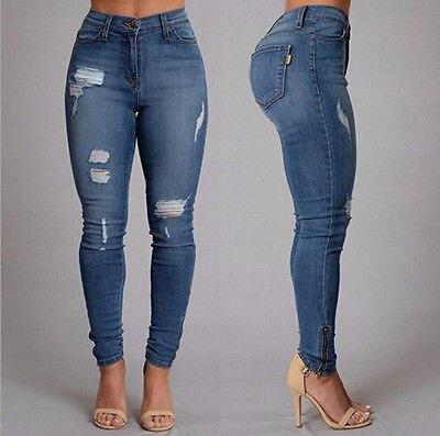 New Fashion Women High Waist Casual Jeans Vintage Green White Blue Denim Jeans PantsОдежда и ак�е��уары<br><br><br>Aliexpress