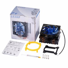 LESHP CPU Cooler Ultra Quiet 20dB(A) with 120mm Fan Five Pure Copper Heat Pipes Four-wire for PC Computer Long Life