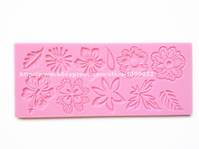 Free Shipping Fondant Cake Lace Silicone Mold Sugar Paste Cake Decoration Sugar Art Tools Flowers PND-07