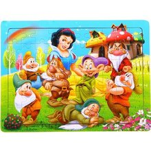 LeadingStar Wooden Puzzle Snow White and the Seven Dwarves Jigsaw  60 Pieces Educational Toy for Children Gift