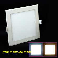 Ultra thin design 25W LED ceiling recessed grid downlight / square panel light 225mm, 1pc/lot free shipping