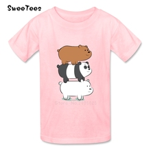 children's T Shirt We Bare Bears Infant 100% Cotton Round Neck Kid Tshirt 2017 Toddler Tee Shirt Boy Girl T-shirt For Baby(China)