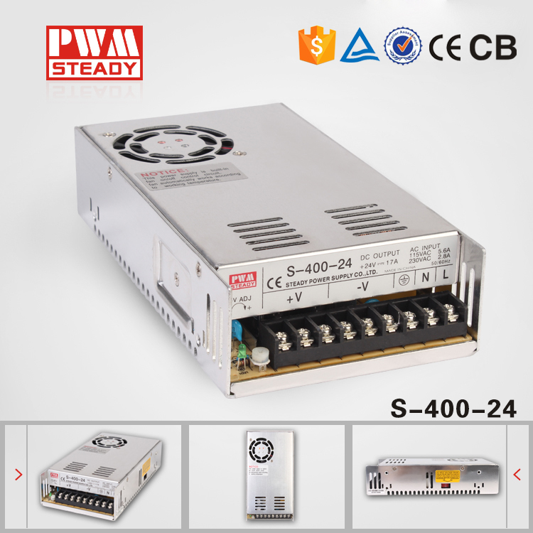 Steady S-400-24 CE approved 220v 24v switching power supply<br><br>Aliexpress