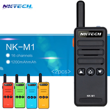 2PCS Mini Walkie-Talkie NK-M1 Frequency Portable  Radio model Super Small Handheld professional FM transceiver