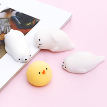 Mobile Phone Cases DIY Accessories Parts Cute Rabbit Cat Silicone Gadgets Squishy Fidget Hand Rising Animal Squeeze Pinch Toy(China)
