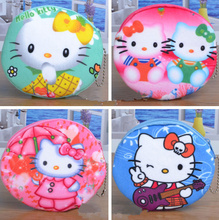 ALL NEW 6Models , 3D Hello KITTY Coin BAG Purse Wallet ; 10CM Plush Key chain Coin BAG , Coin Wallet Pocket BAG Pouch(China)
