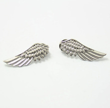 Men Women Pin Brooches Gold Silver Alloy Metal Angel Eagle Wing Brooch Shirt Tip Blouse Collar Clip Fashion Jewelry Accessories