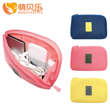 DOGGYZSTYLE 16cm *12.5cm Nylon Storage Bag Earphone Data Cables USB Flash Drives Case Digital Electronic Accessories Pouch