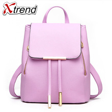 New Store Big Discount Multifunction PU Leather Girl Backpack Bag Waterproof Fashion Backpack Bags For Women(China)