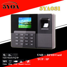Biometric Fingerprint Attendance Time Clock+ID Card Reader+TCPIP+USB Recorder Employee Electronic Punch Reader Machine