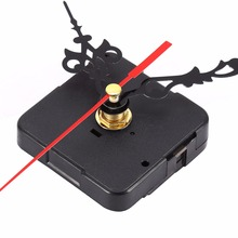 1 Set Silent Wall Clock Quartz Movement Mechanism Black and Red DIY Wall Clock Quartz Clock Hour/Minute Hand Clock Movement(China)