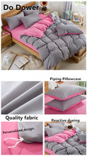 15Colour Reactive Printing Bedding Set Super Soft Cotton Duvet Cover Flat Sheet Pillowcase Comforter Bed Set 4Pcs(China)