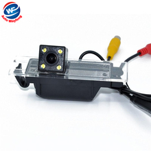 Nightvision 4 LED CCD Chip Car Rear View Reverse CAMERA for OPEL Astra H/Corsa D/Meriva A/Vectra C/Zafira B,FIAT Grande WF(China)