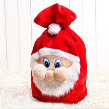New 2016 High Quality Merry Christmas Santa Claus Kids Candy Bag Home Party Decor Gift To Children Christmas Decoration For Home