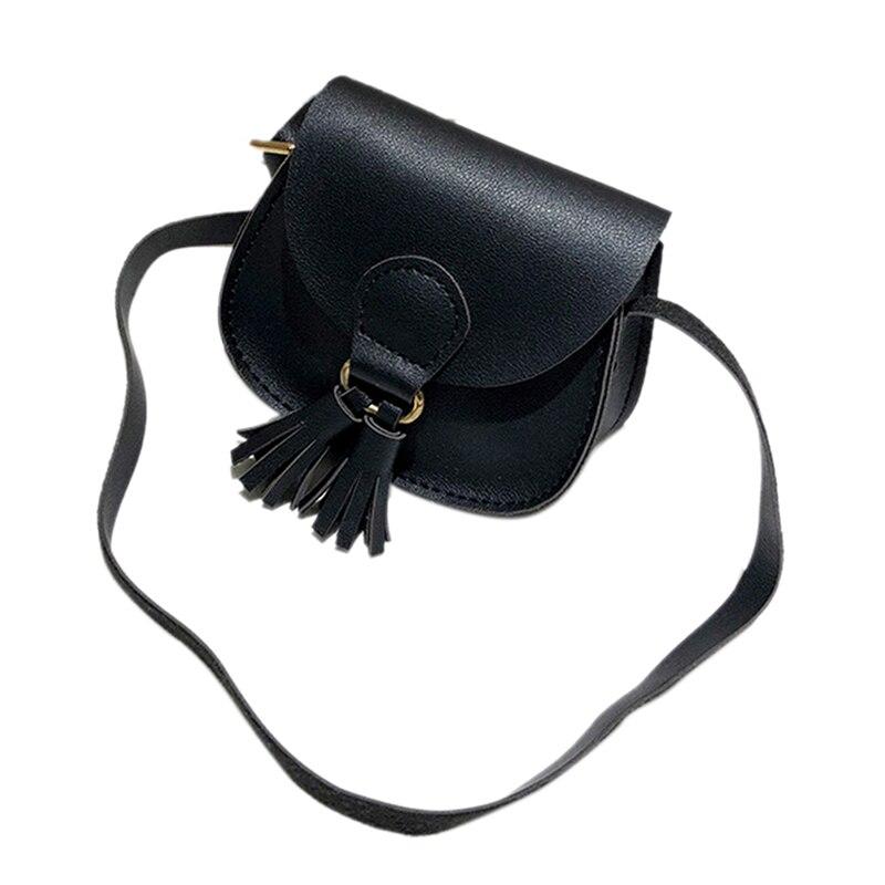 1PC Kids Girls Mini Coin Purse Cross Body Bag PU Leather Tassel Shouler Bags For Baby Girl Messenger bag Clutch Bag