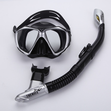 Professional Snorkeling Diving Kits Gear Equipment Silicone Fog proof Mask Full Dry Breath Tube Swim Spearfish Scuba Aqualung