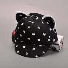 Cat Ears Beard Stars Baby Hat Cartoon Animal Baseball Cap Spring Summer Boy Sun Hats Cotton Caps Girls