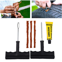 6PCS/Set uto Car Tire Repair Kit Car Bike Auto Tubeless Tire Tyre Puncture Plug Repair Tool Kit Diagnostic-tool Car Accessories