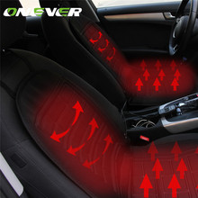 Onever 2pcs Conjoined Car Heated Seat Cushion Heating Pad Cover Hot Warmer Separated Control HI/LO Mode for Cold Weather Winter
