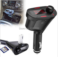 2015 Remote Control Red Light LCD Car  MP3 Player Wireless FM Transmitter Modulator With Support USB+ SD+MMC+Fuse+Car Audio