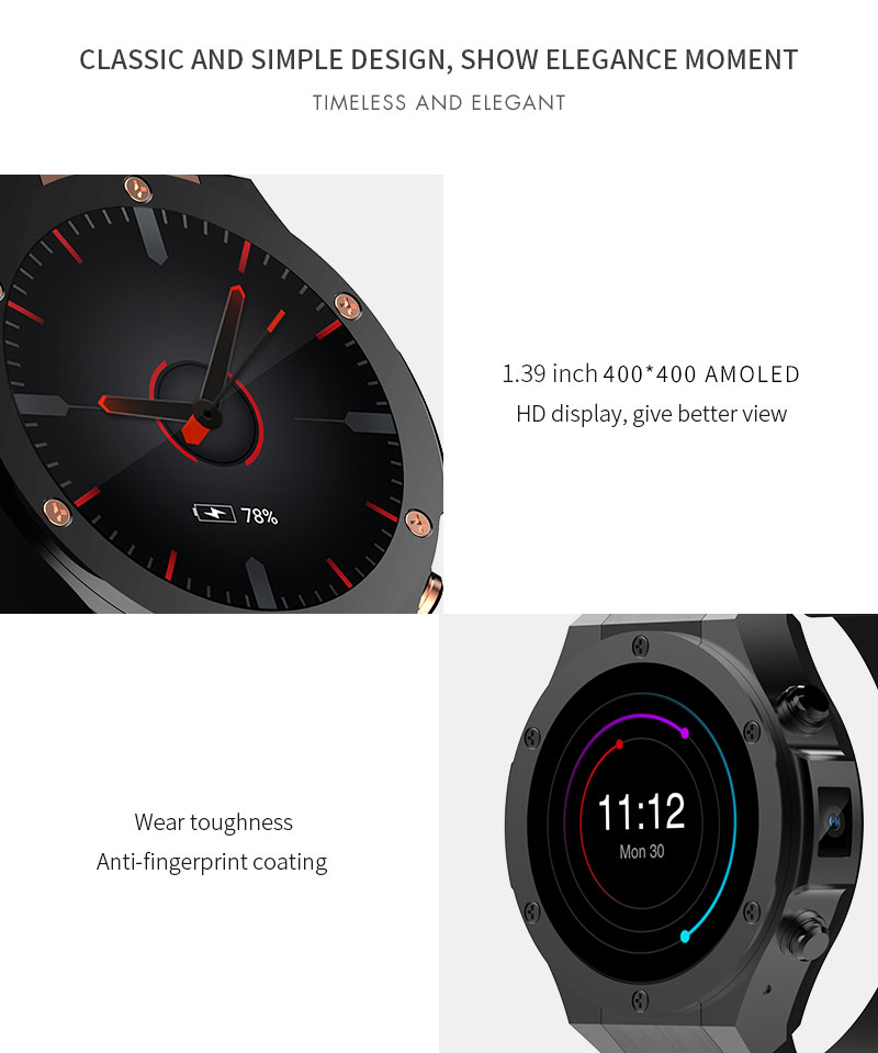 SMARTELIFE 3G Android Smart Watch With Heart Rate GPS WIFI 1GB RAM 16GB ROM Wearable Devices Smartwatch Phone for Android iOS