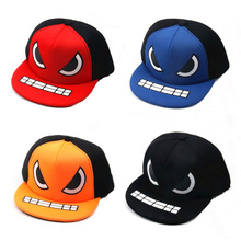 2016 Kids Summer Hats with Eyes Mouth Cartoon Baby Baseball Hat Children Snapback Caps Hip Hop Boys Sun Hats Cotton Caps Girls