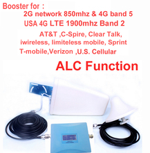 USA 4G booster 850mhz CDMA repeater &4G repeater 1900Mhz LTE FDD amplifier for AT&T Sprint Verizon T mobile w/ antenna & cable