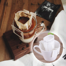 50Pcs Hanging Ear Coffee Filter Paper Tea Bag Coffee Powder Filter Paper Bags Import Dish-filter Hand-Washed Coffee Filter Bags(China)