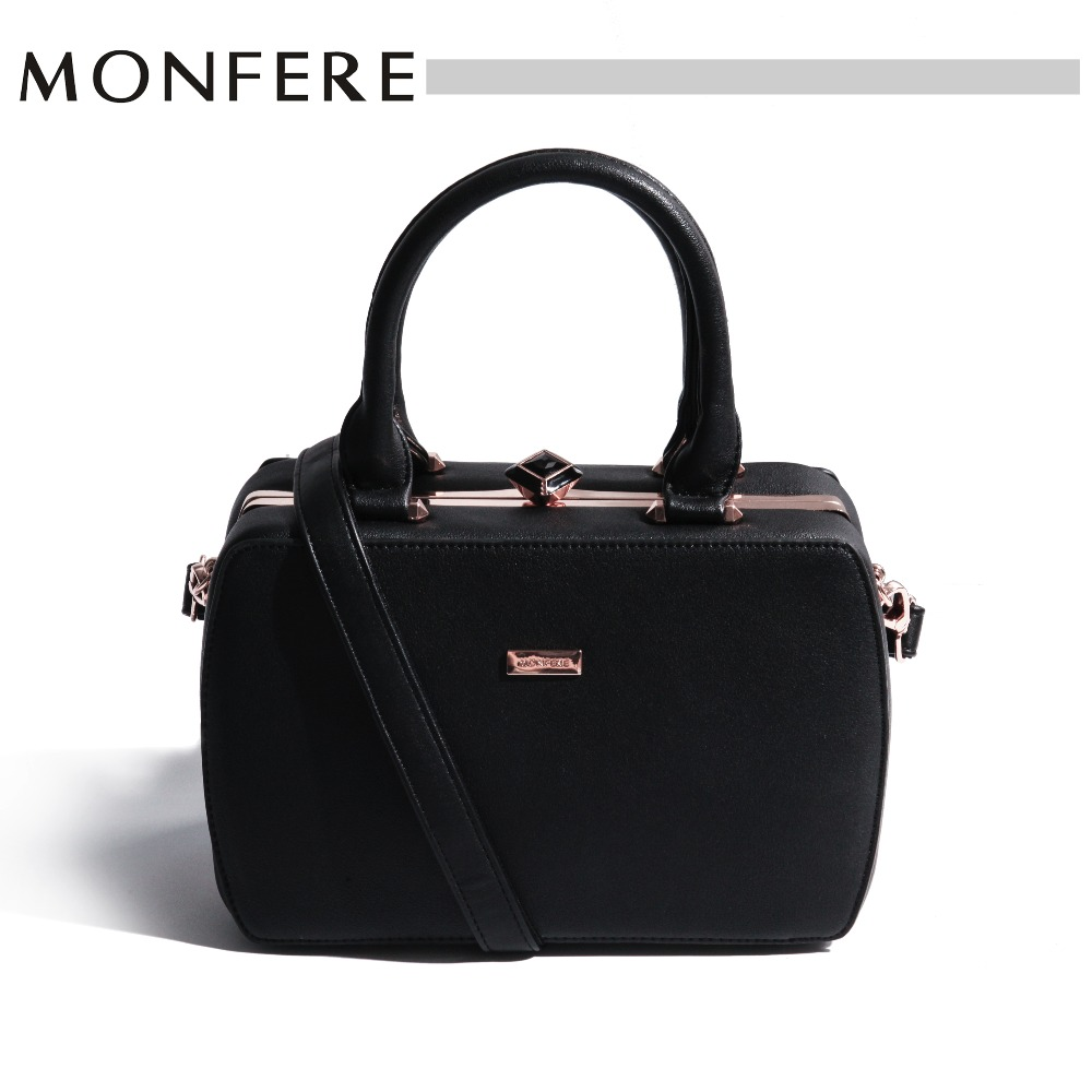 MONFERE luxury 2017 new women bags designer frame bags top handle hard tote bag high quality PU leather elegant messenger bags<br>