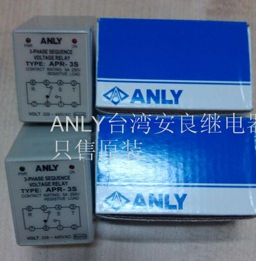 APR-3S AC208-440V ANLY 3-PHASE SEQUENCE VOLTAGE RELAY ,New and original<br>