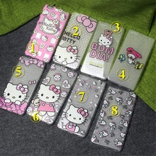 100 pcs Wholesale Pink Hello Kitty Case For Coque iPhone 5 5s se 6 6s 6plus 7 7plus Cases TPU Silicone Covers Capinha Hoesjes(China)