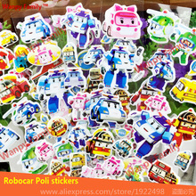 10 sheets/lot Traffic Safety with Poli wall stickers,cartoon police car Poli  for Children's traffic safety education stickers