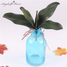 1pcs real touch artificial plant phalaenopsis leaf silk plant decorative flowers auxiliary material for flower decor