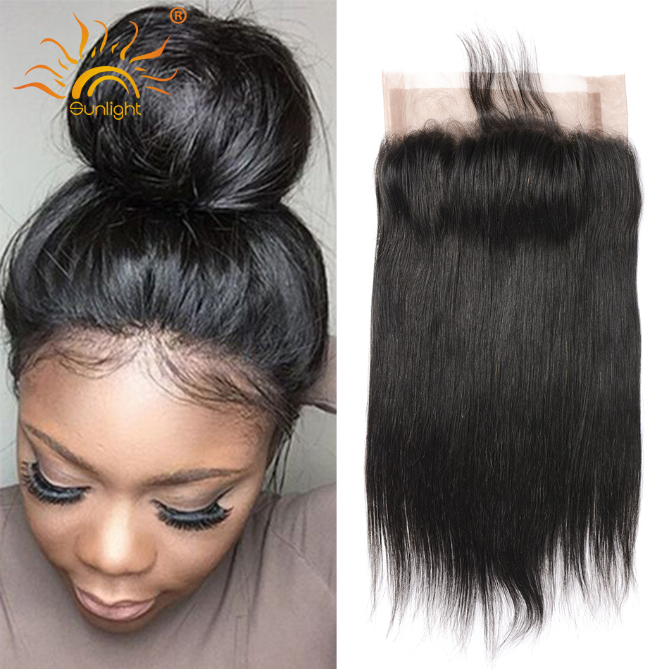 Pre Plucked 360 Lace Frontal Closure 8A Full Lace Frontals With Baby Hair Brazilian Straight Lace Frontal 360 Lace Virgin Hair<br><br>Aliexpress