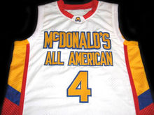 Jonny Flynn #4 McDonald's All American Men Basketball Jersey White Embroidery Stitched Custom any Number and name Jerseys(China)
