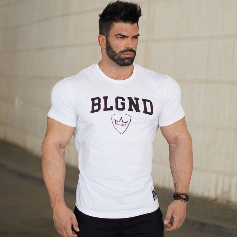 Mens summer fitness Bodybuilding cotton t-shirt gyms workout Crossfit Short sleeve o-neck shirts male tees tops brand clothing