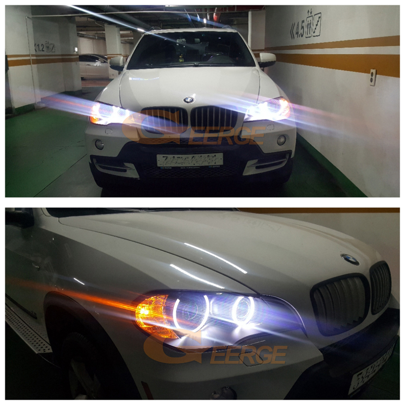 BMW X5 e70 2007 2008 2009 2010 Xenon headlight smd led angel eyes(27)