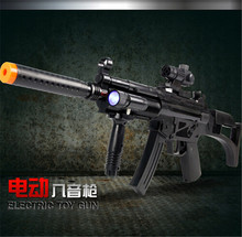 Child electric toy gun rifle pistol sniper rifle mp5 submachine gun infrared acoustooptical disassembly toys for boys
