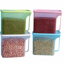 Useful Plastic PP Protective Box Food Storage Refrigerator Bag Compact size Home Kitchen Fresh Organization Case Color Random