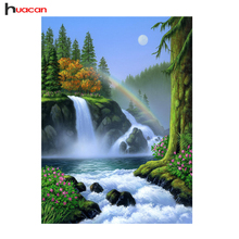"""Huacan, алмазная вышивка, алмазная мозаика """"Пейзажи"""" картина Стразы вышивки крестом, алмазная вышивка распродажа водопад полный квадратный хру...(China)"""