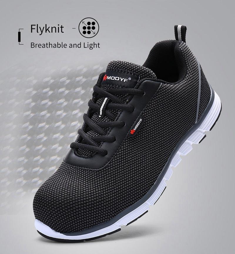 MODYF Men Safety Steel Toe Work Shoes Lightweight Breathable Casual Footwear 8