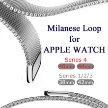 Milanese Loop pulsera de acero inoxidable banda para Apple Watch serie 1/2/3 42mm 38mm pulsera para iwatch serie 4 40mm 44mm(China)