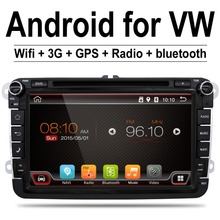 Android 4.4 car stereo radio for vw passat b6 golf 5 Quad Core 7 inch 1024*600 car DVD GPS navigation OBD DVR include can bus